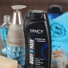 Etkileyici duş jeli ve vücut ve saç için şampuan